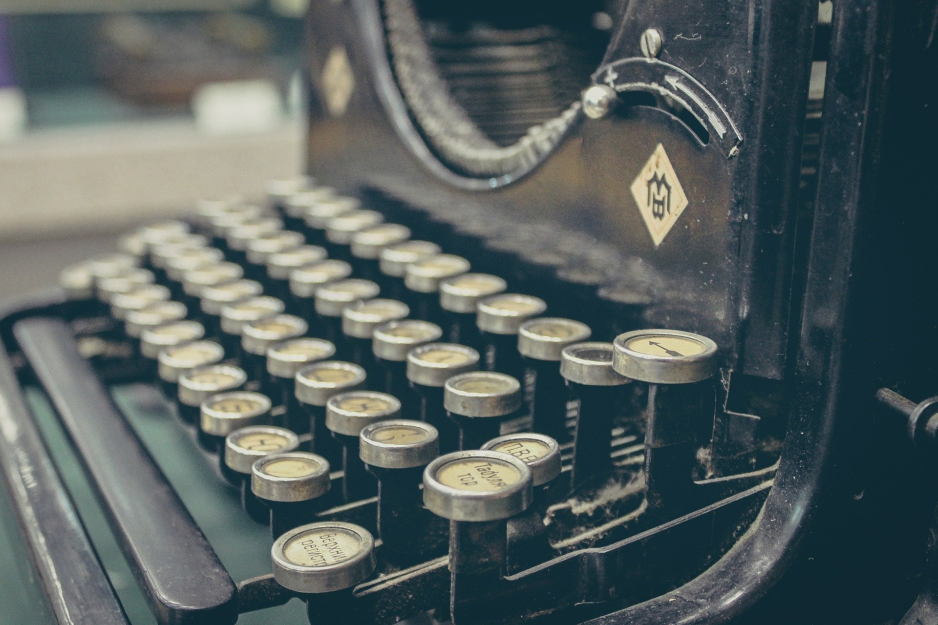 Copywriting on a typewriter